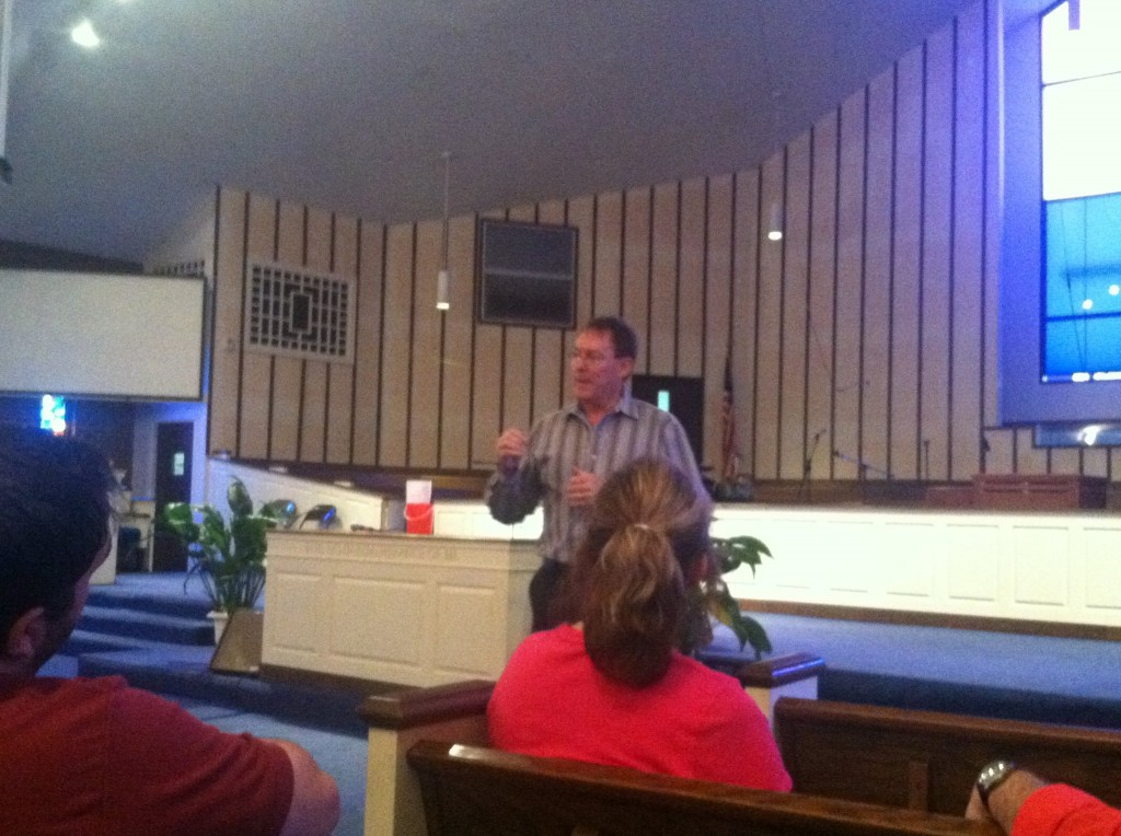 Wes speaking at Reeder Memorial Baptist Church for National HIV/AIDS Awareness Day 2013